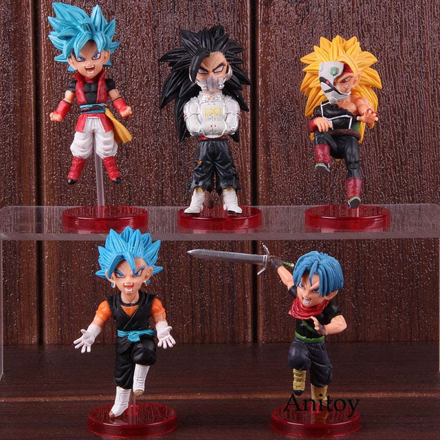 5pcs/set WCF Dragon Ball Super Hero World Collectible Figure Vol.4 Model Toy