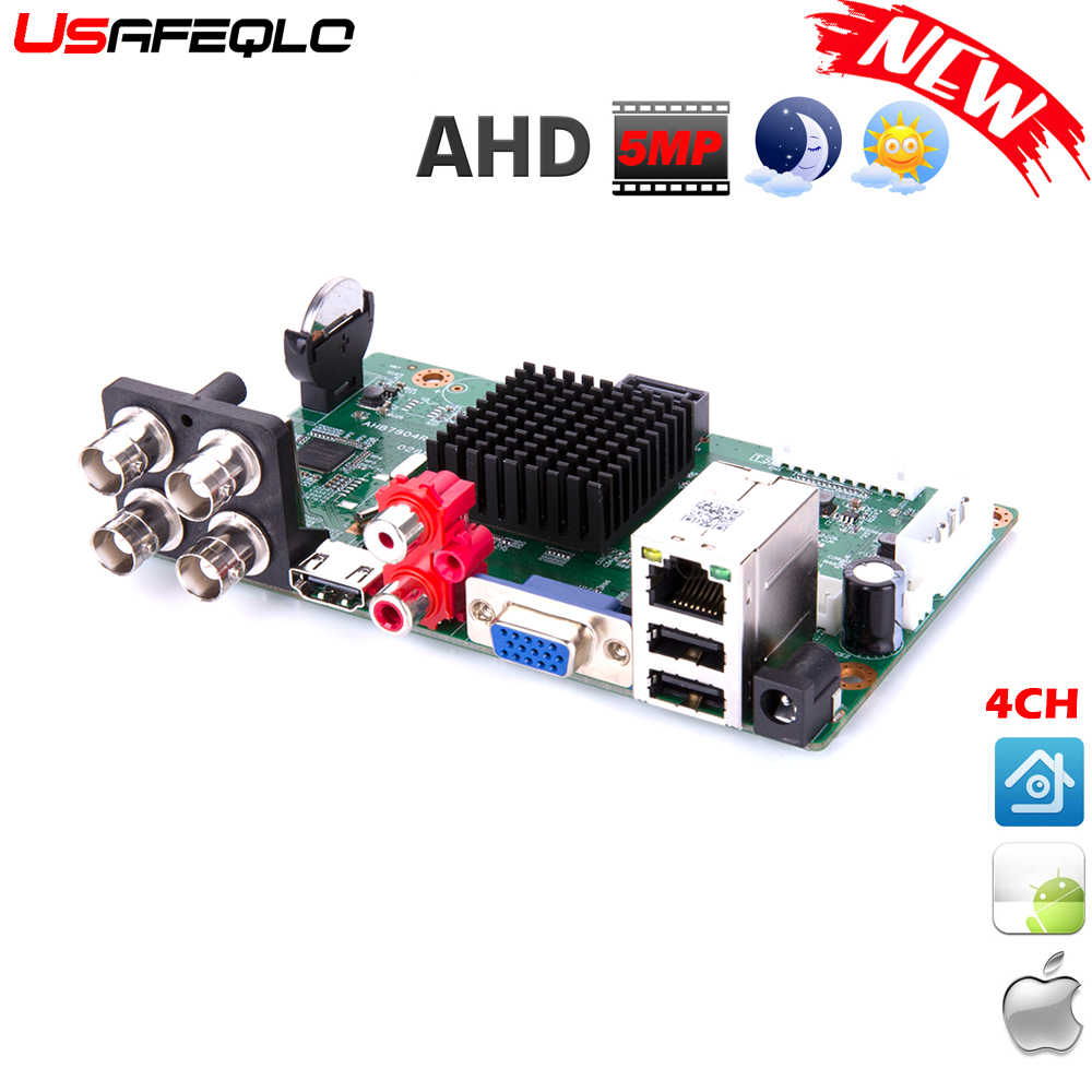Baru Kedatangan Utama PCB AHD 5MP-N 4 Channel AHD DVR Perekam Video Recorder 4 Channel AHD DVR 1080 P Ahdh untuk 1080 P/5MP AHD Kamera