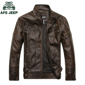 Brand 2018 Spring Autumn Motorcycle Leather Jacket Men Casual Slim Fit mens Leather Jackets Stand Collar Bomber Jacket Plus Size