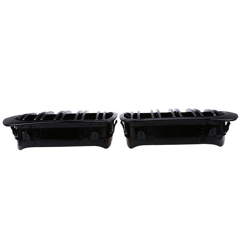Remplacer les accessoires de calandre pour le couvercle de latte noir brillant de Coupe 98-01 BMW E46 2D - 2