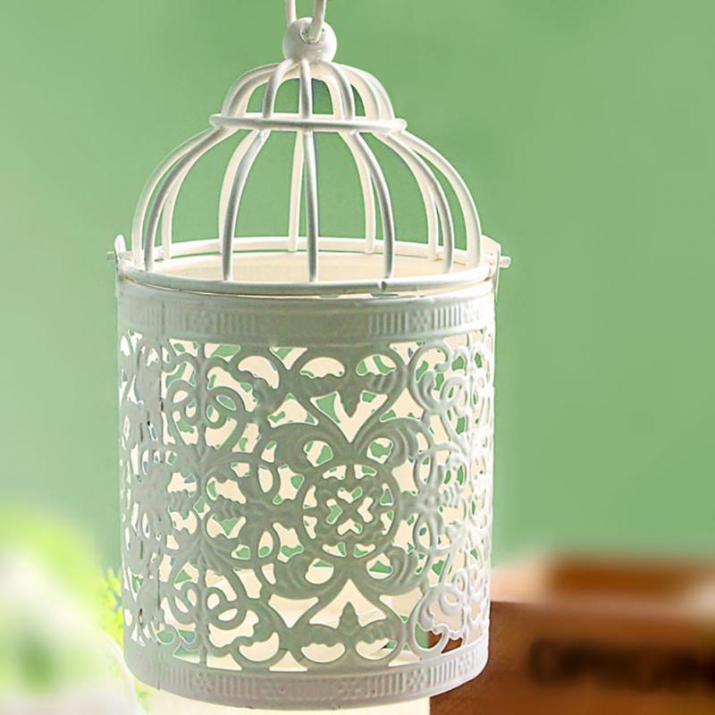 unids nuevo vintage pequea jaula de pjaro de hierro flor de pared decoracin candelabro titular