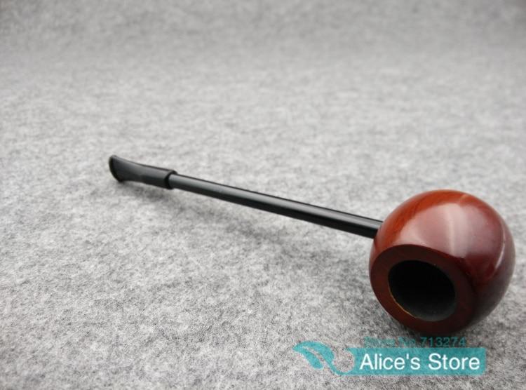 Ebony Wood Smoking Pipes Popeye Portable Round Herb Tobacco Smoking Pipe Narguile Weed Grinder Smoker 5pcs/lot 9012