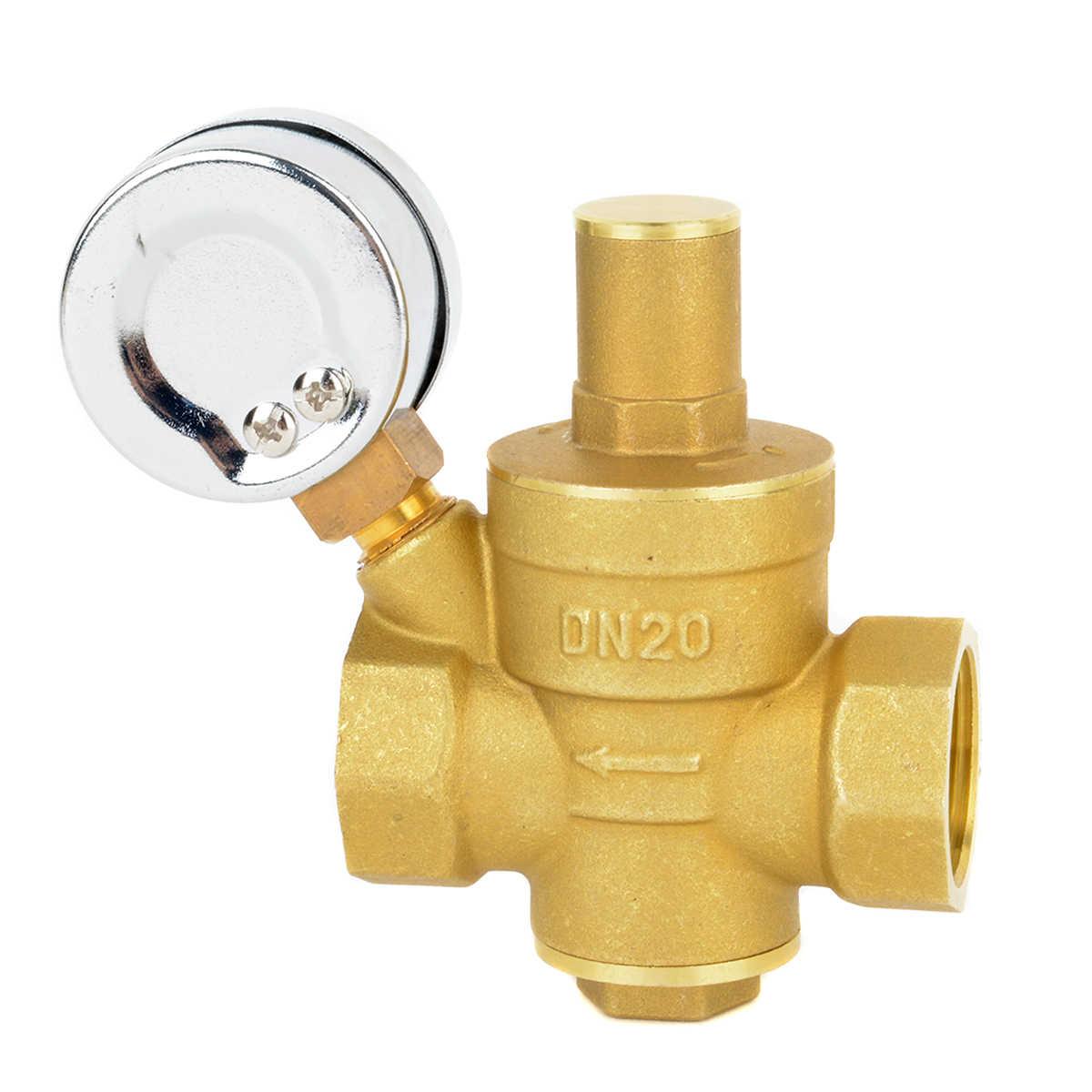 "DN20 3//4/"" Brass Water Pressure Reducing Maintaining Valves Regulator Mayitr A.."