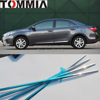 TOMMIA 4pcs Stainless Steel Chrome Bottom Window Frame Sill Trim For Toyota Corolla 2014 Car Accessories