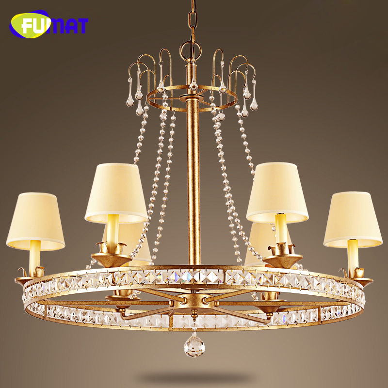 FUMAT American Crystal Pendant Lamp For Living Room Bed Room Creative Metal Pendant Lights Modern Brief K9 Crystal Pendant Lamps a1 master bedroom living room lamp crystal pendant lights dining room lamp european style dual use fashion pendant lamps