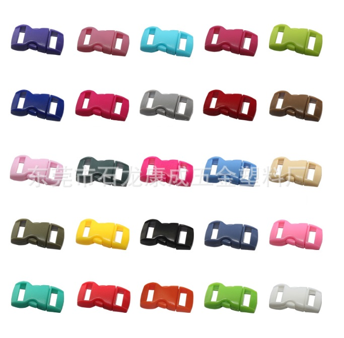 1000pcs lot Colorful Plastic Paracord Buckles Bag Cases Buckles Quick Release Buckles