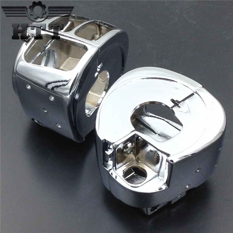 Aftermarket free shipping motor parts Switch Housing Cover for Harley Davidson Sportster Dyna Softail V-Rod 2002-2010 Chrome aftermarket free shipping motorcycle parts brake clutch lever fit for harley davidson davidson xl sportster 883 1200 softail cd