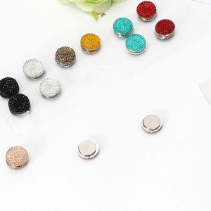 Image 2 - JAVRICK 12 Pairs Muslim Multi Use Rhinestone Magnetic Scarf Brooches Round Hijab Pins