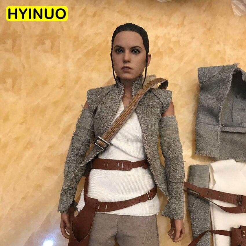 1/6 échelle Star Wars: la Force réveille Rey femme désert princesse vêtements costume ensemble de vêtements modèle pour 12 ''action Figure corps