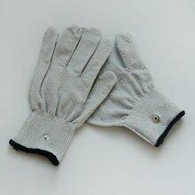 200 pairs slivery繊維導電性マッサージ手袋使用用tens/ems マシン