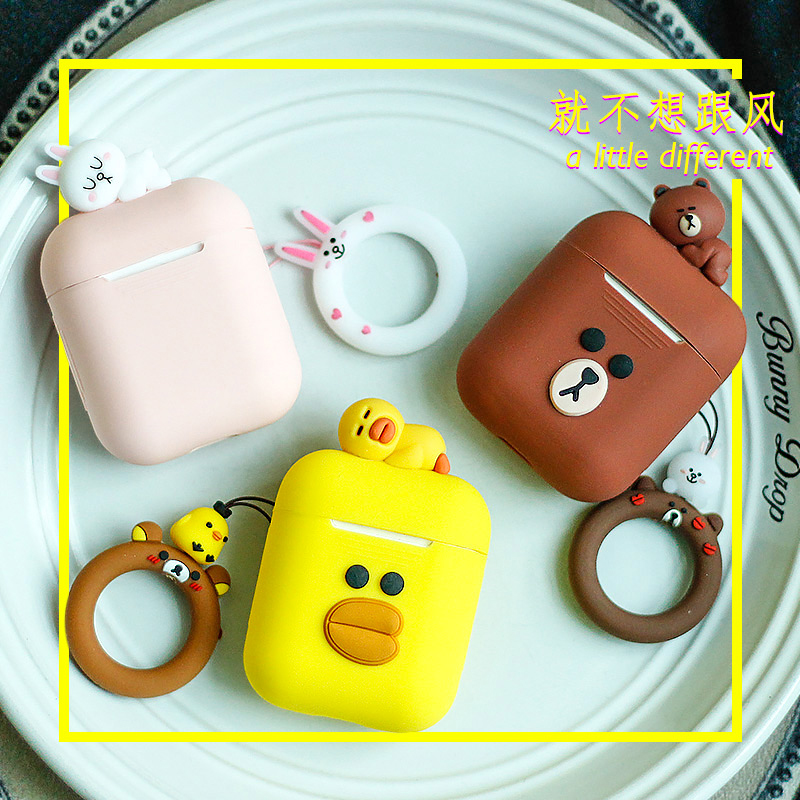 f4b7988c0b45 Cute DIY Silicone Case For Apple Airpods Accessories Special 3D Animal Soft  Case Cover with Anti-lost Strap Decoration Gifts Toy