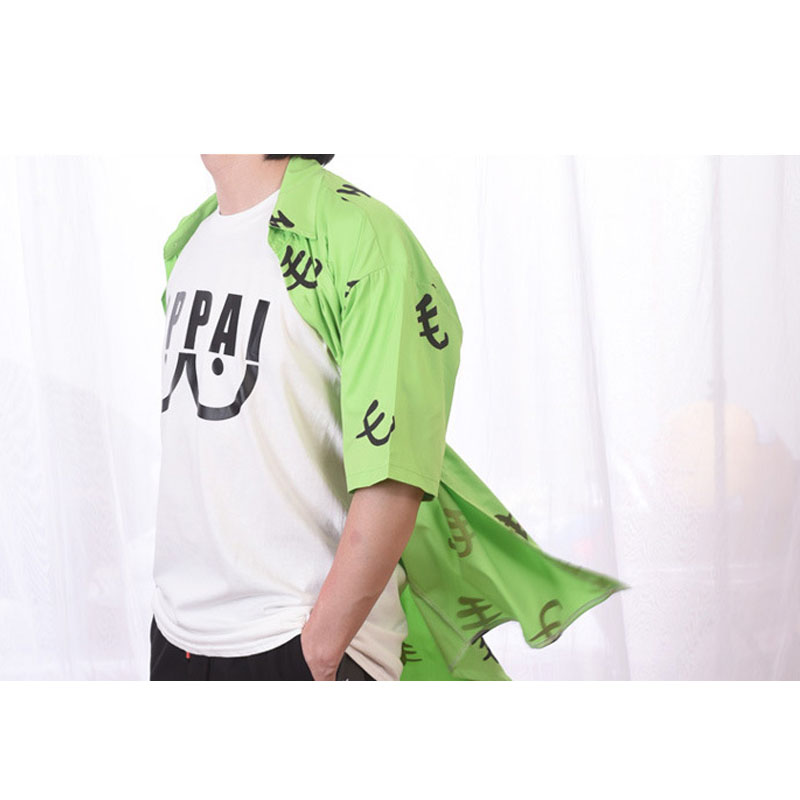 Cosroad One Punch Man Saitama Green Mao Shirt Cosplay Costume Oppai Tee Outfit T-Shirts for Halloween Party (5)