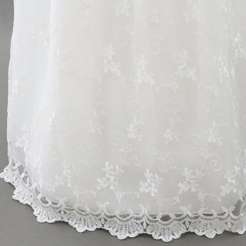 c06a5fb016df1 High-end Baby Girls Christening Gowns Newborn Baptism Long Trailing Dress  For Princess Infant 1 Year Birthday Party Wear