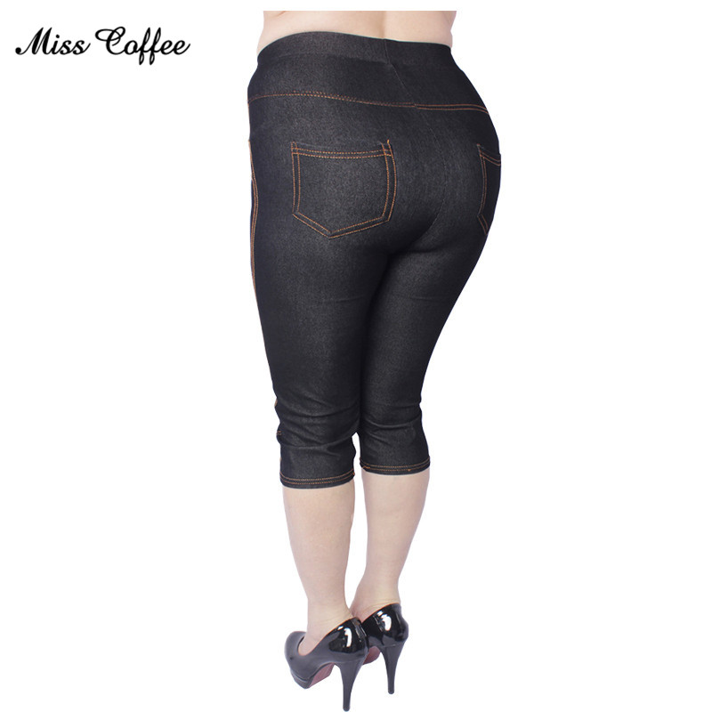 2018 Nieuwe dameskleding Grote maat Verhogen Fat Leggings Candy kleurpotlood Broek Hoge kwaliteit Stretch imitatie-jeans