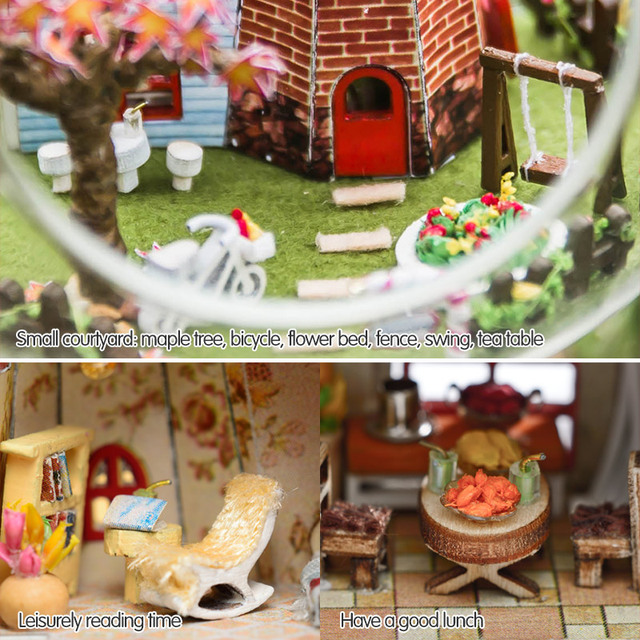 DIY Wooden House Miniaturas with Furniture DIY Miniature House Dollhouse Netherlands Tours Toys for Children Birthday Gift