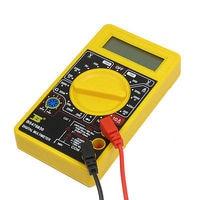 DC Current Resistnace Voltage Test Black Yellow Multitester Multimeter