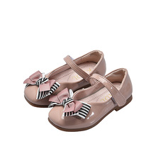 2019Spring New Kids Shoes Childrens bowknot Princess Shoes Kids baby girl shoes Pink White Black 3 4 5 6 7 8 9 10 11 12 13 14T baby girl dresses 2017 black polka dot chiffon dress white dotted clothing for girls age 5 6 7 8 9 10 11 12 13 14t years old