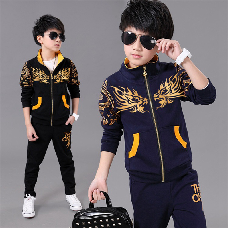 цены на Boy Sports Suit Kids Spring Sport Suits Boys Clothing Set Children Warm Clothes Tracksuit  Sweatshirt pants Casual Clothes Sets в интернет-магазинах