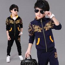 Boy Sports Suit Kids Spring Sport Suits Boys Clothing Set Children Warm Clothes Tracksuit  Sweatshirt pants Casual Clothes Sets