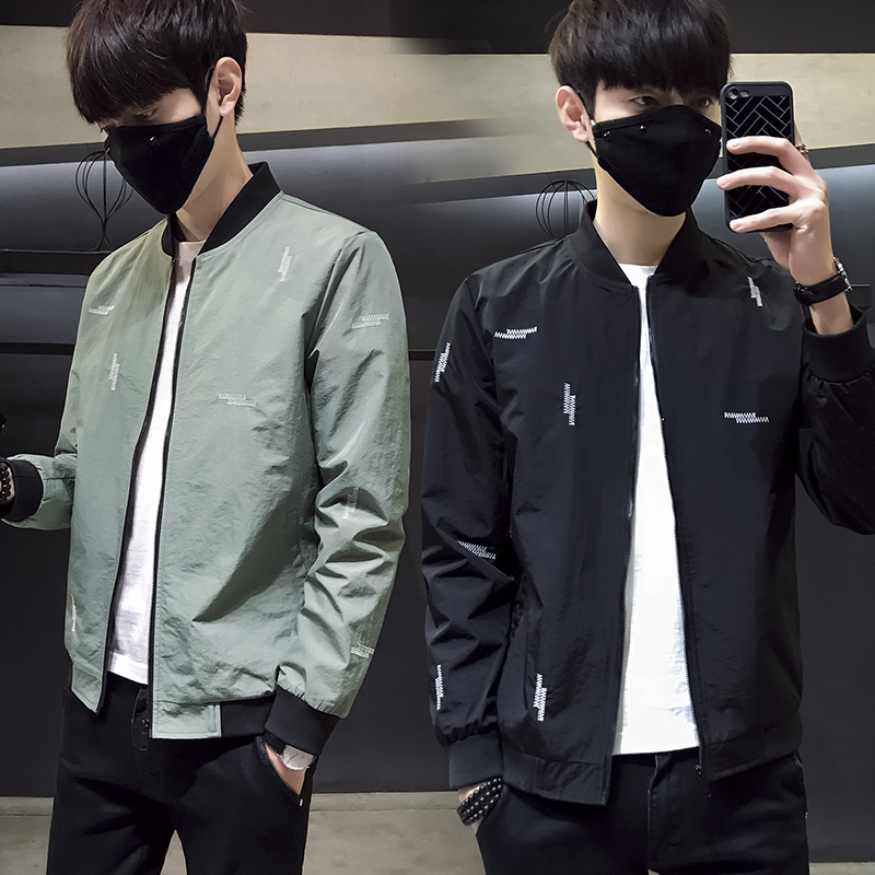 LEFT ROM 2018 spring fashion Han edition men's slim fit jacket /Leisure male Pure color comfortable Long sleeve coats M-3XL