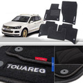 4pcs Premium Auto Fabric Nylon Anti-slip Floor Mats Carpet For VW Touareg