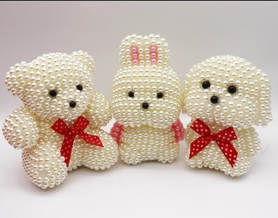 8mm In Diameter High Brightness ABS Imitation Pearl For Foam Bear Decorative Accessories Colorflu Beads DIY Handmade Materials