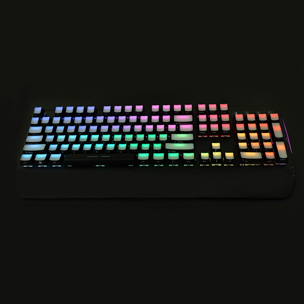 US $31 99 | YMDK 1 5mm ABS Side lit 104 OEM Profile Side Backlit Keycap Set  For MX Mechanical Keyboard Only Keyset Free shipping-in Keyboards from