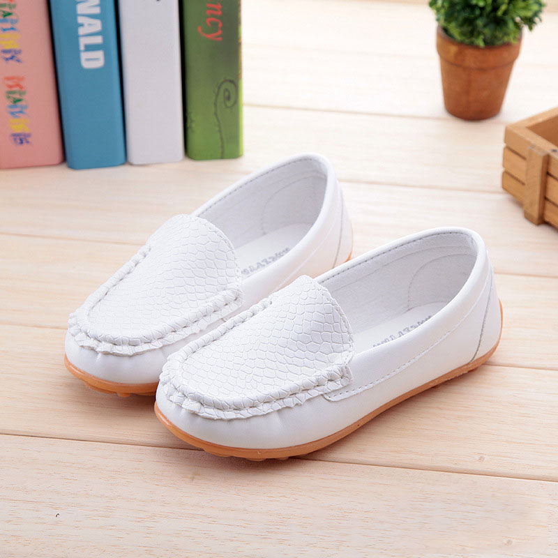 Hot Selling Boys Girls Casual Shoes Kids Lightweight Dance Shoes Children PU Leather Soft Bottom Princess Solid Shoe