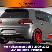Car Styling Tail light Accessories for VW Golf 6 LED Taillights 2009 2012 Golf mk6 Tail Lamp Rear Lamp DRL+Brake+Park+Signal led