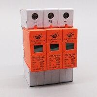 1 Piece DC 1000V 20KA 40KA 3 pole 4P SPD House Surge Protector 35MM din rail Protective Low voltage Arrester Device protection