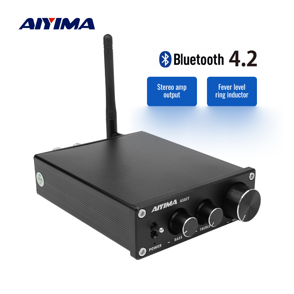 AIYIMA TPA3116D2 Bluetooth Amplifier 50W 2 Bluetooth 4 2 CSR64215 Stereo TPA3116 Digital Power Amplifier Hifi