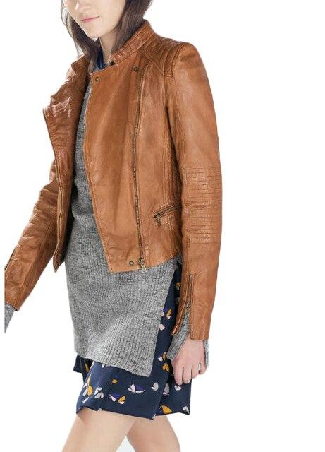 2015 Европейских Женщин Осень/Зима Сделать Новый Старый Старинных Мотоциклов Кожаная Куртка/Женская Основные Куртки K9325