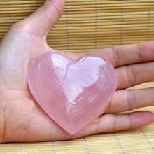 Натуральный большой розовый кварц кристалл сердце любовь камни целебные кристаллы
