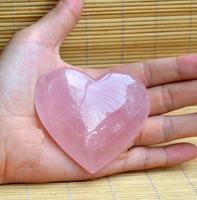 Doğal Büyük Gül Kuvars Kristal Aşk Kalp Taş Kristal Şifa Toptan ücretsiz kargo