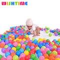 50 pcs ou 100 pçs/lote Colorido Plástico Macio Estresse Bolas de Ar Engraçado Bolas oceano Brinquedos Para Jogar Pit Bebê Piscina de Diversão Ao Ar Livre esportes