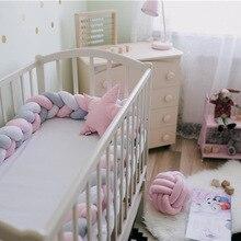 3 м длина noary узел новорожденный бампер длинная завязанная коса подушка детская кровать бампер в кроватку Детская комната Декор