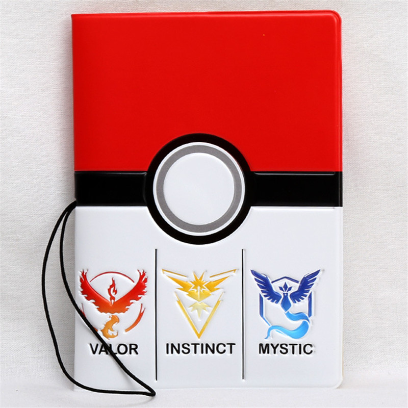 Fashion Cartoon Pokemon Go Passport Holder Cover PVC Leather Identity ID Credit Card Cover Document Folder Travel Ticket Bag