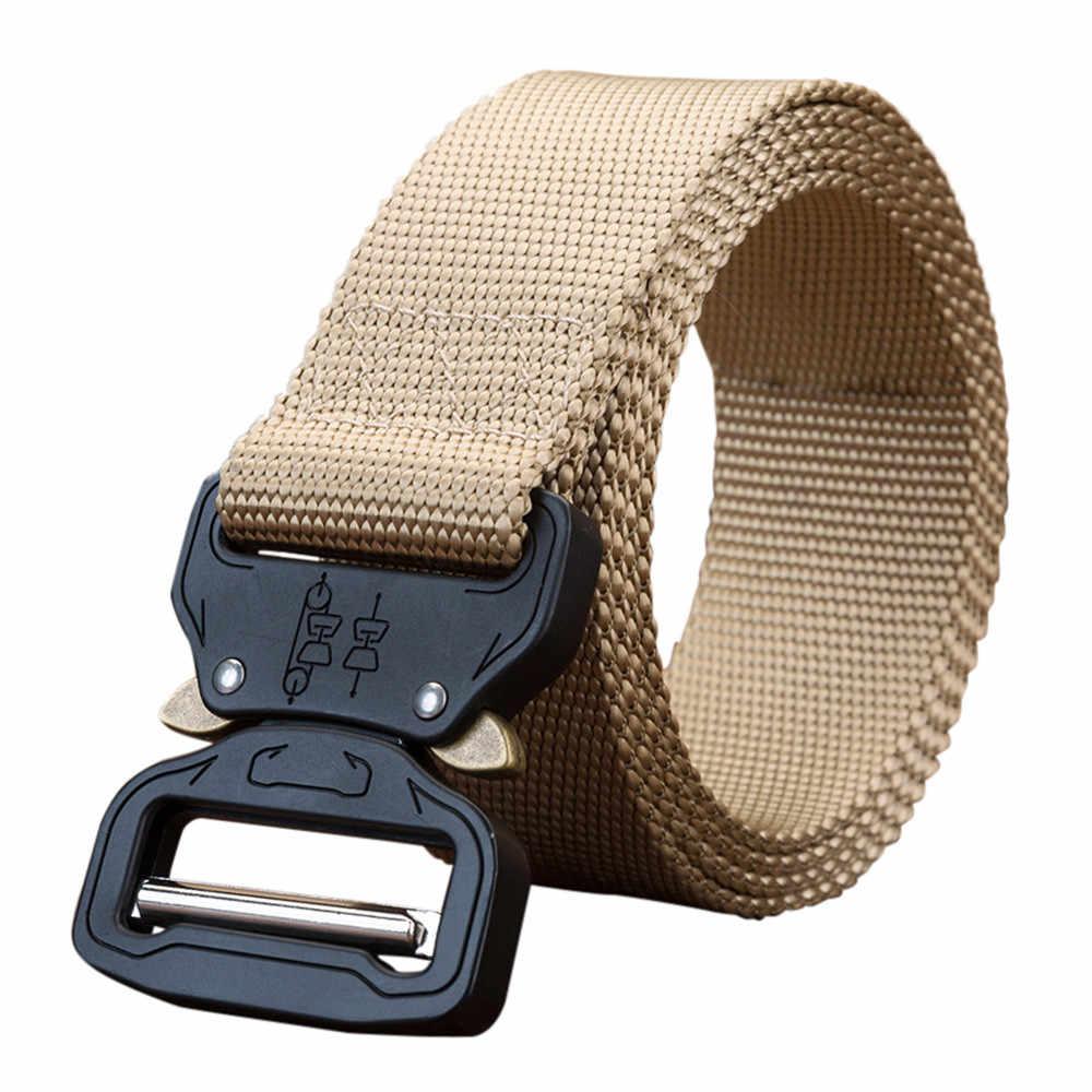 MUQGEW Открытый тактический тренировочный пояс утолщенный нейлоновый металлический Прочный Пояс для поддержки талии 125 см аксессуары для альпинизма
