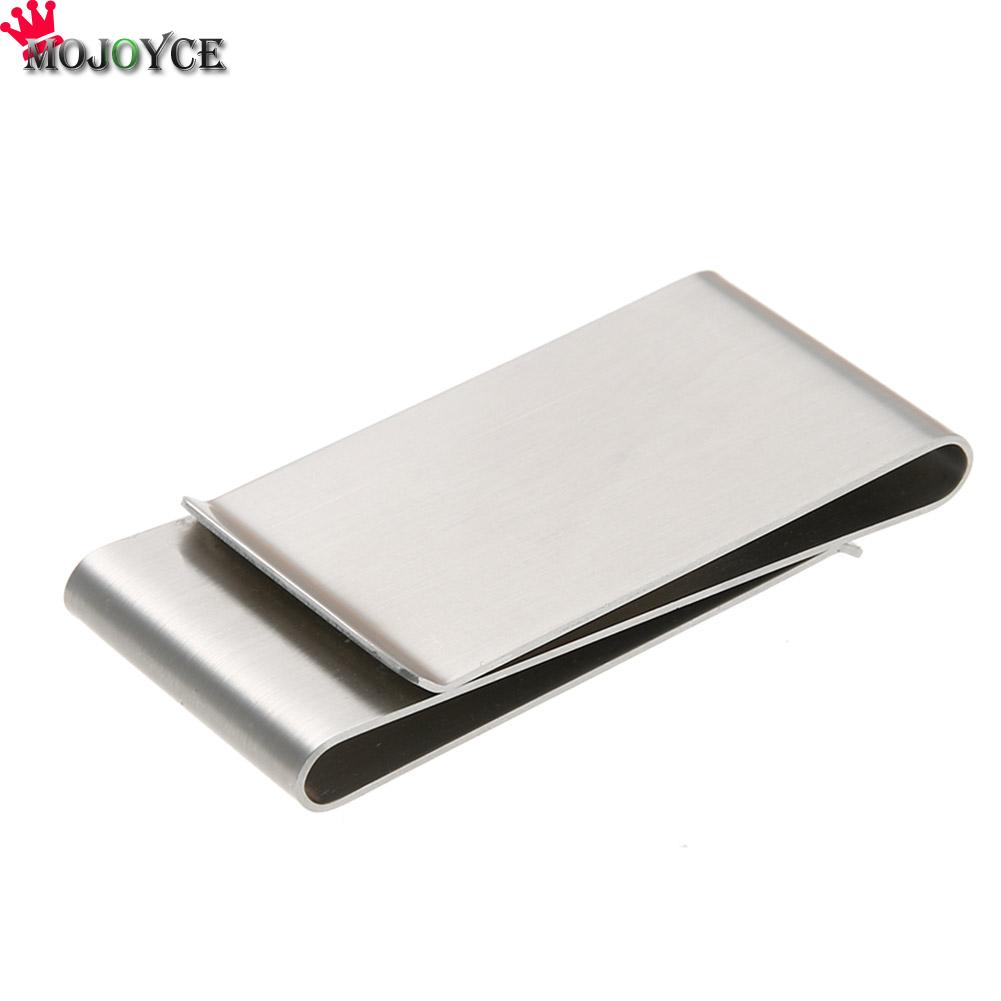 MOJOYCE Drop Shipping High Quality Practical Multifunction Stainless Steel Card Folder Money Clips Metal Wallet