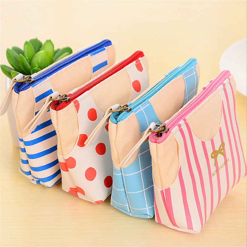 Cute Dot Bow Canvas Coin Bag Ladies Purse Stripe Fresh Candy Color Printing Small Purses Women Handbag Clutch Wallet Key Storage bill james easy streets – a harpur and iles mystery