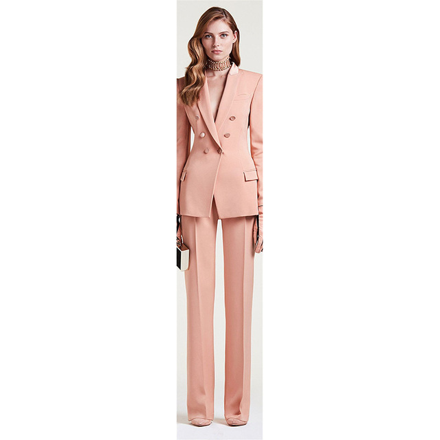 New Womens Pant Suits Red Business Female Office Uniform Ladies Formal  Trouser Suit Bell-bottomed Pants Womens Tuxedo Custom bd001d3793