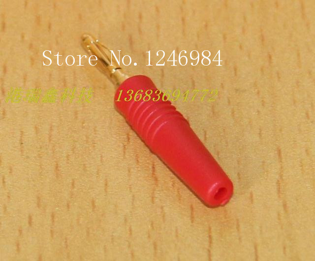 [SA]2MM yellow- blue color black and red banana plug test head soft leather gold-plated connectors A-1007 wire bonders--100PCS/L areyourshop sale 50pcs 5color 2mm gold banana male plug audio adapters for instrument test probes m