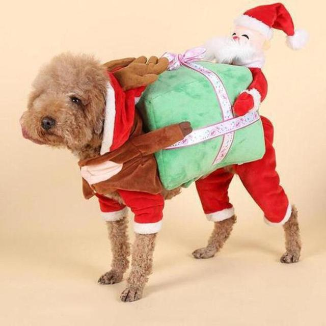 Pet Dog Clothes Funny Santa Claus Christmas Dog Costumes Cute Puppy Cat Warm Winter Pet Coat & Pet Dog Clothes Funny Santa Claus Christmas Dog Costumes Cute Puppy ...