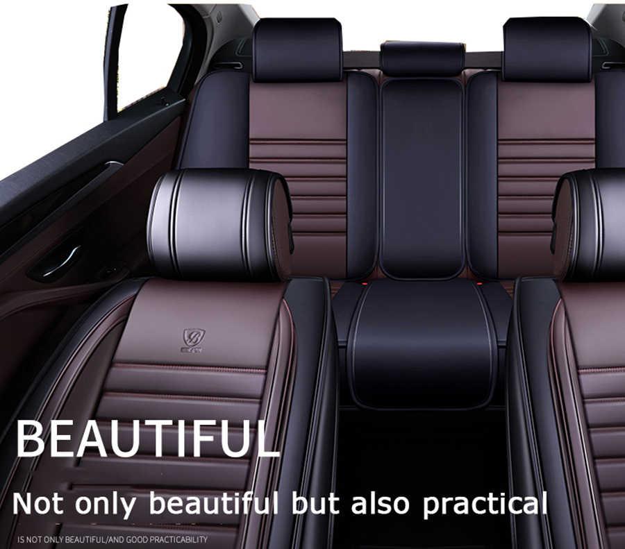 ETOATUO universal auto assento de couro cobre para Chery todos modelo A1/3/5 Fulwin Cowin Riich E3 E5 QQ3 6 v5 X1 estilo do carro Tiggo