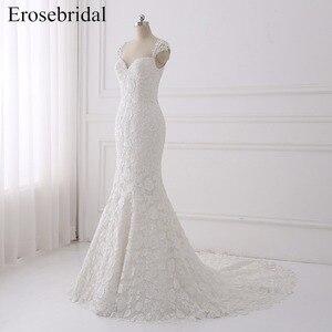 Image 2 - Seksi Illusion düğün elbisesi 2018 Erosebridal Bir Çizgi Bohemian düğün elbisesi es Fermuar Geri Zarif Sevgiliye Vestido De Noiva