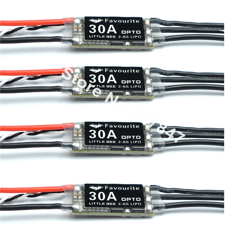 4pcs 100% Original FVT Littlebee 30a/Littlebee esc Mini ESC (2-6S) OPTO for Multicopter Frame Quadcopter