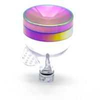 1ピース虹色凹面漏斗スタイルハーブグライン