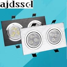 1PCS LEDDownlight 12w 20W 28W Square double ledCeiling dimmable Epistar LED ceiling lamp Recessed Spot light Downlight 110V-220V