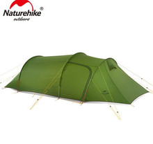 NatureHike Hiking Traveling Camping Tent For 3-4 Person 4 Season Large Family Tent For One Bedroom In 20D /210T Nylon Material цена и фото