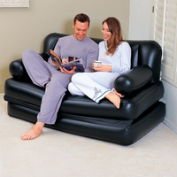 Inflatable Folding Sofa Bed Living Room Furniture Bean Bag Chair Air Couch Lazy Floor Sofa Recliner Puff asiento with Pump